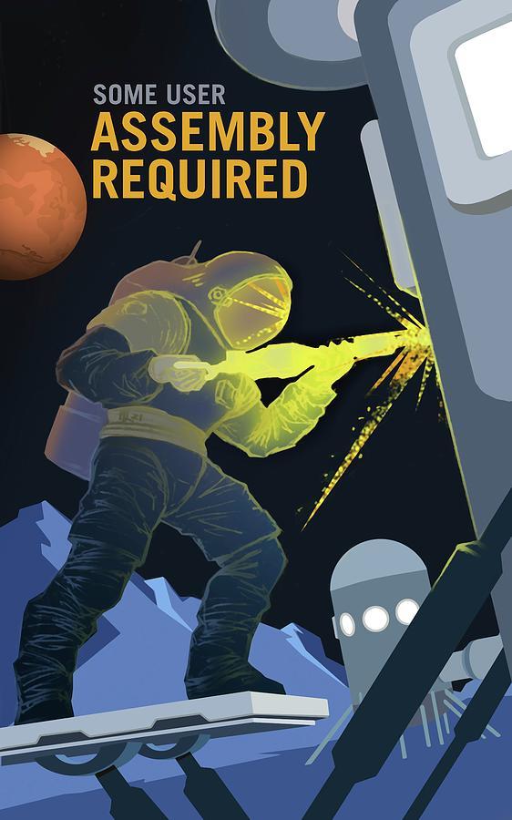 Artwork Photograph - Mars Explorer Recruitment Poster by Nasa/science Photo Library