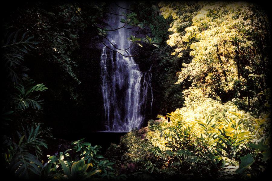 Dusk Photograph - Maui Waterfall by J D Owen