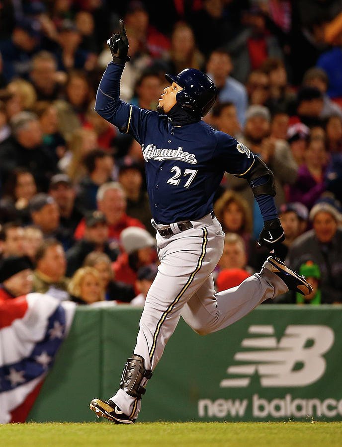 Milwaukee Brewers V Boston Red Sox 4 Photograph by Jared Wickerham
