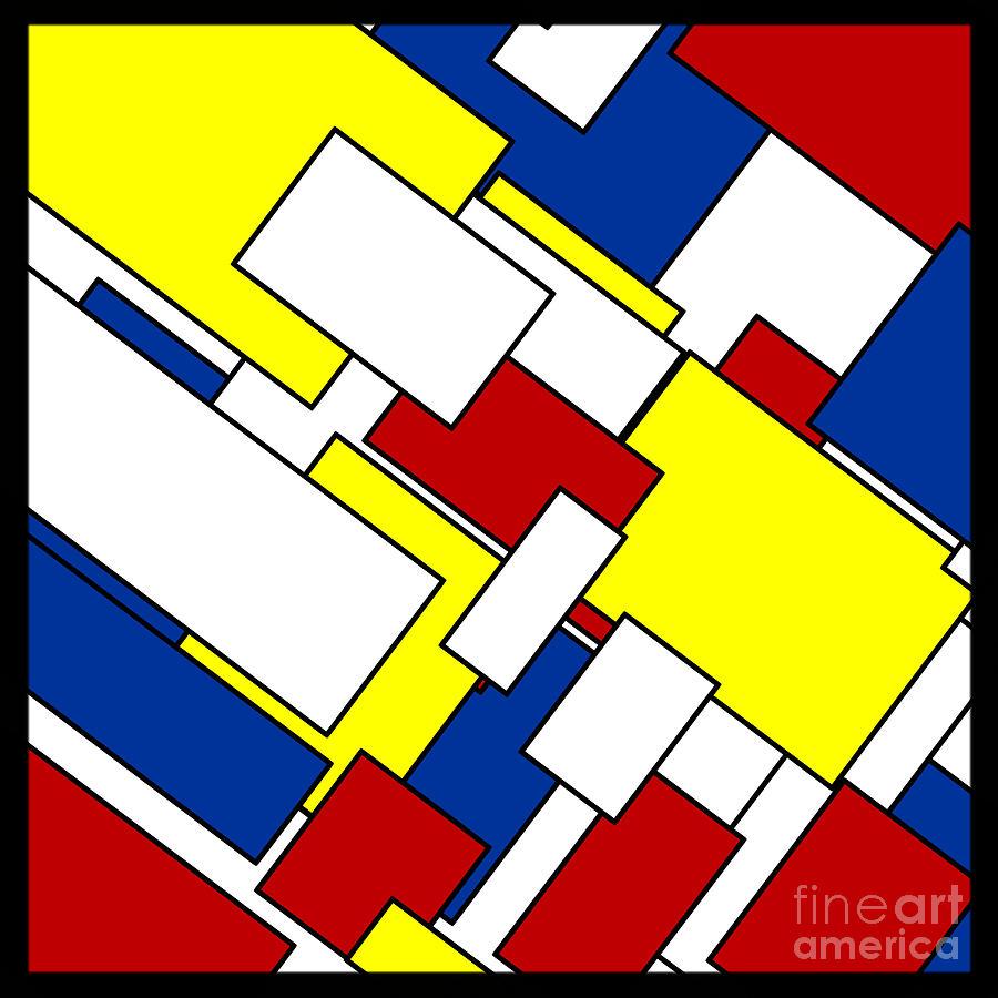 Piet Mondrian Digital Art - Mondrian Rectangles by Celestial Images