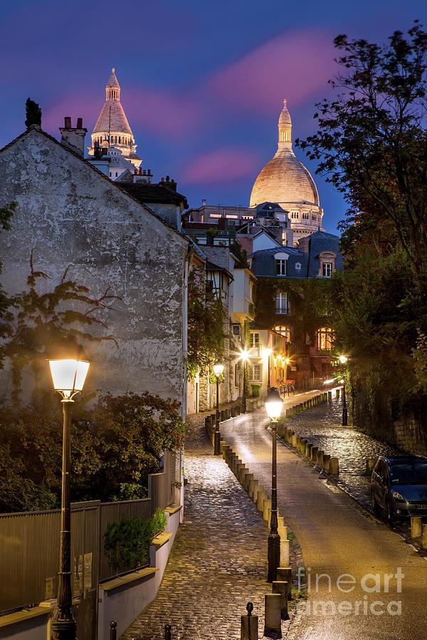 Architectural Photograph - Montmartre Twilight by Brian Jannsen