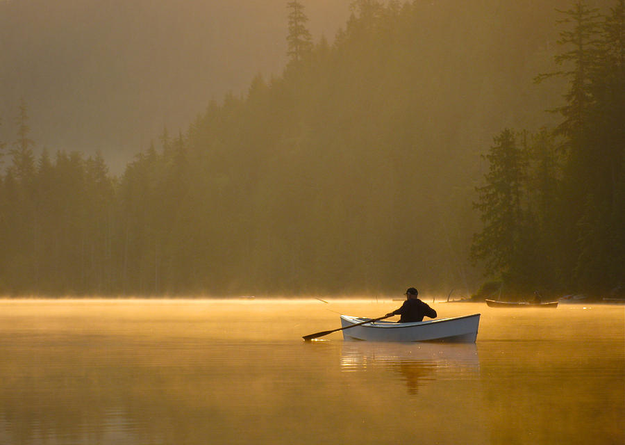 Mist Photograph - Morning Mist On The Lake by Kathy King
