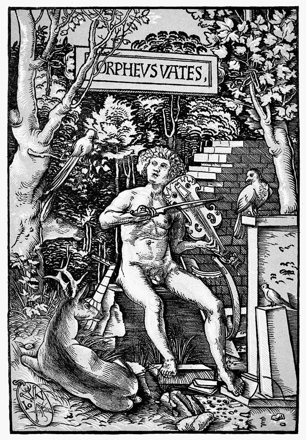 Ancient Rome Painting - Mythology Orpheus by Granger