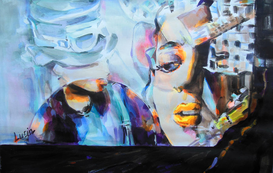 4 Non Blondes Painting - 4 Non Blondes - Linda Perry by Lucia Hoogervorst