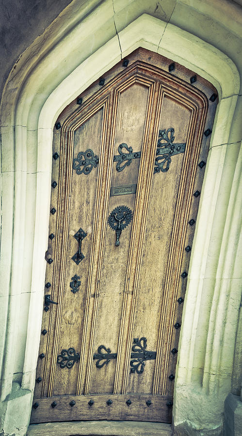 Ancient Photograph - Old Door by Tom Gowanlock
