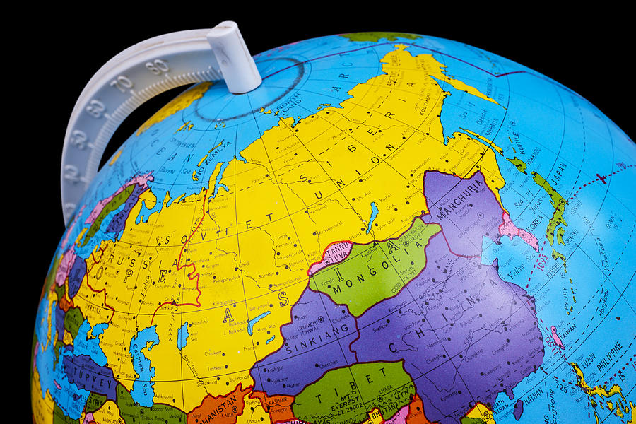 Old rotating world map globe photograph by donald erickson globe photograph old rotating world map globe by donald erickson gumiabroncs Images