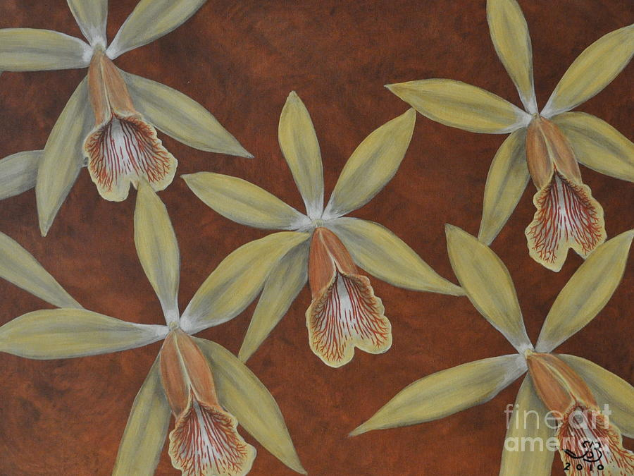 Orchid Painting - Orchid by J Barth