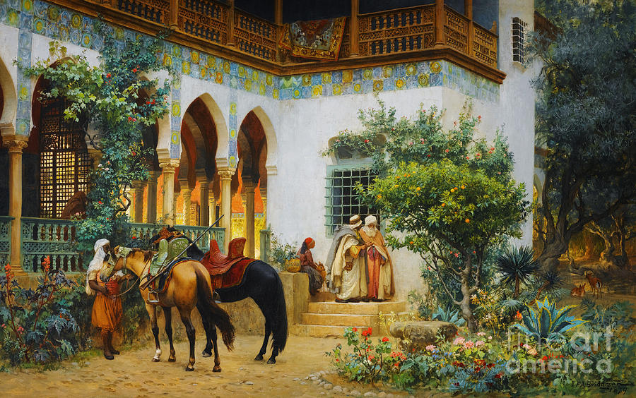 Ottoman Daily Life Scene Painting By Celestial Images