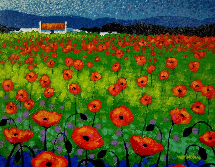 Landscape Painting - Poppy Field by John  Nolan