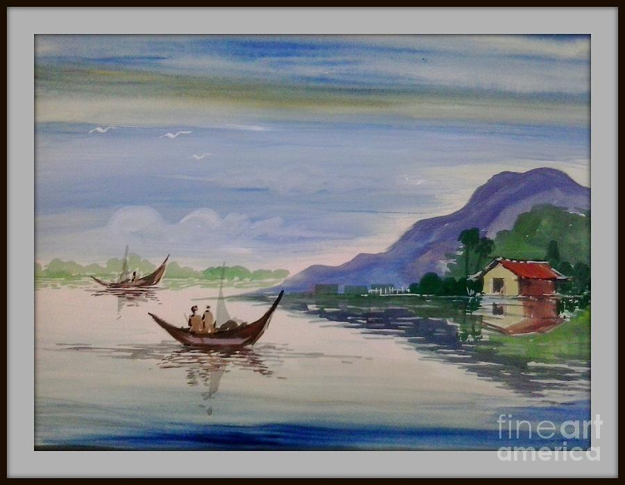 nature poster colour painting painting by sanjay wagh
