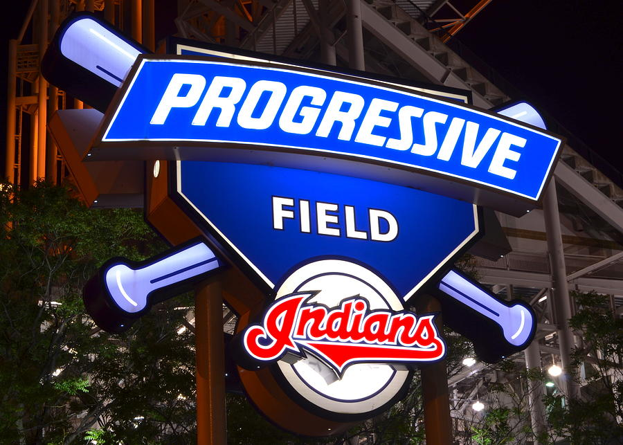Sign Photograph - Progressive Field by Frozen in Time Fine Art Photography