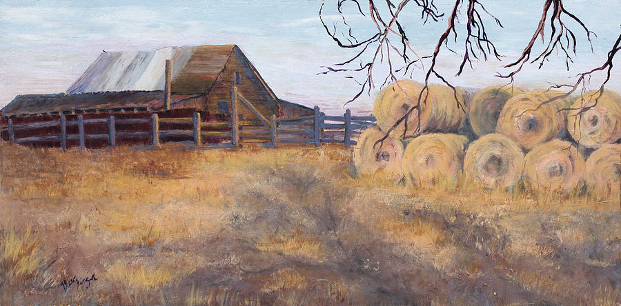 Landscape Painting - Ready For Winter by Bev Finger