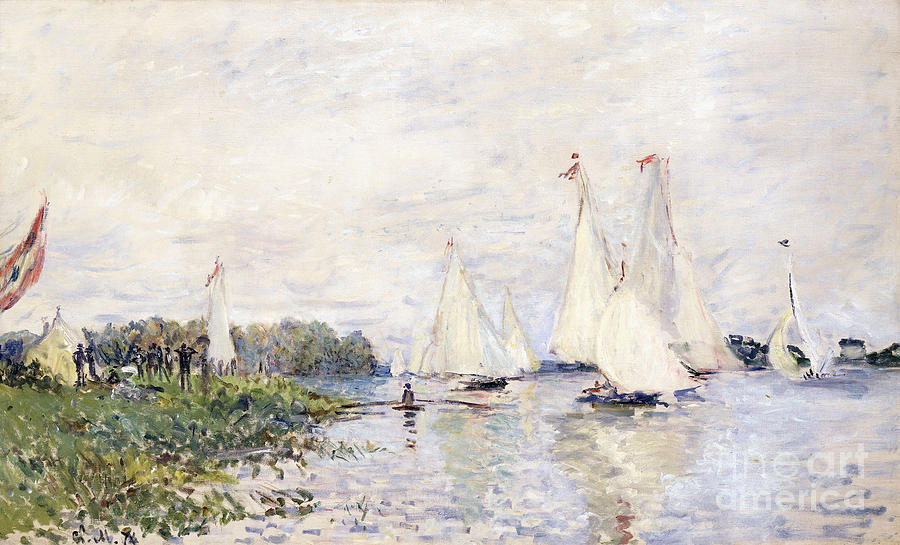 1870s Painting - Regatta At Argenteuil by Claude Monet