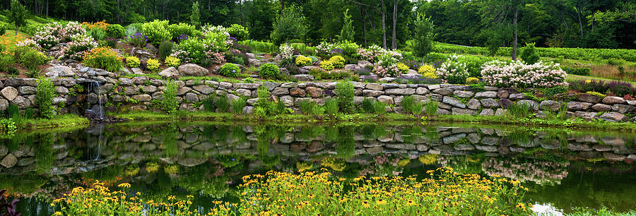 Horizontal Photograph - Rocks And Plants In Rock Garden by Panoramic Images