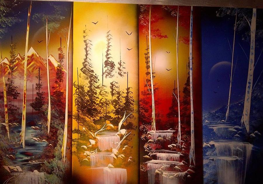4 Seasons Painting By Edgar Herrera