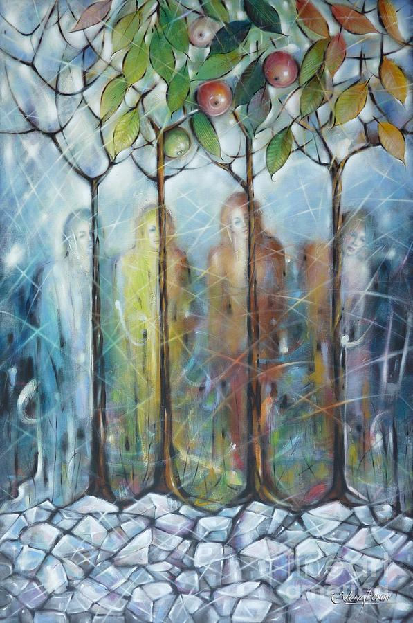 Winter Painting - 4 Seasons On Ice 061110 by Selena Boron