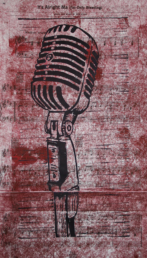 Mic Drawing - Shure 55s On Music by William Cauthern