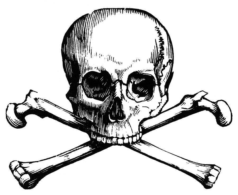 Crossbones Painting - Skull And Crossbones by Granger
