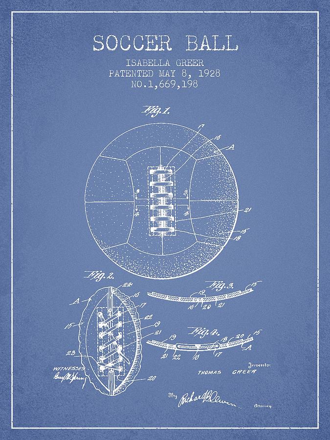 Soccer Ball Patent From 1928 Digital Art