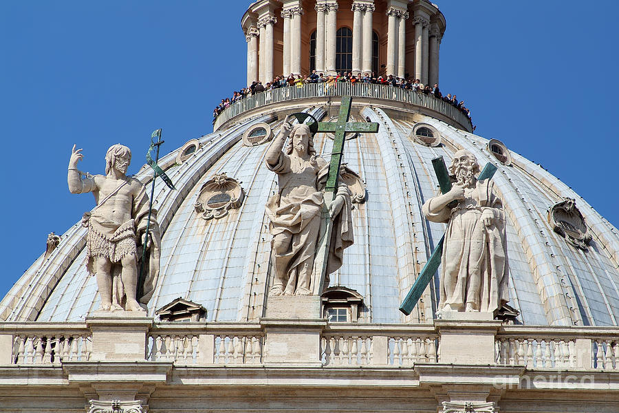 Rome Photograph - St Peter Dome In Vatican by George Atsametakis