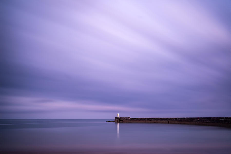 Landscape Photograph - Stunning Long Exposure Landscape Lighthouse At Sunset With Calm  by Matthew Gibson