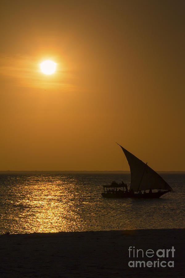 Africa Photograph - Sunset In Zanzibar - Kendwa Beach by Pier Giorgio Mariani