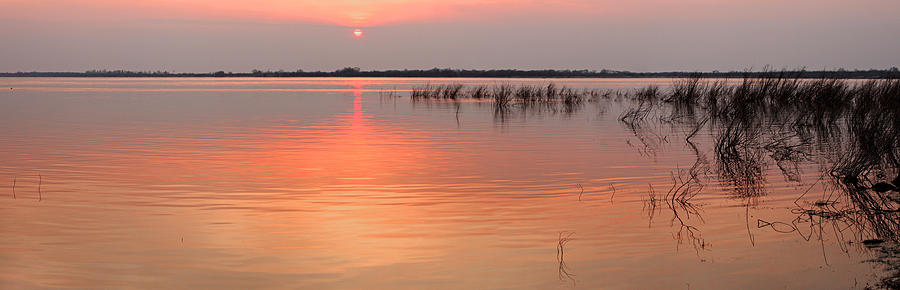 Area Photograph - Sunset  River Panorama by Vitaliy Gladkiy