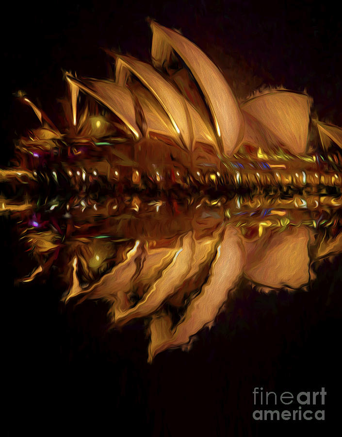 Sydney Harbour Photograph - Sydney Opera House abstract by Sheila Smart Fine Art Photography
