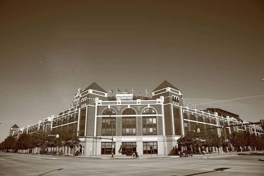 America Photograph - Texas Rangers Ballpark In Arlington by Frank Romeo
