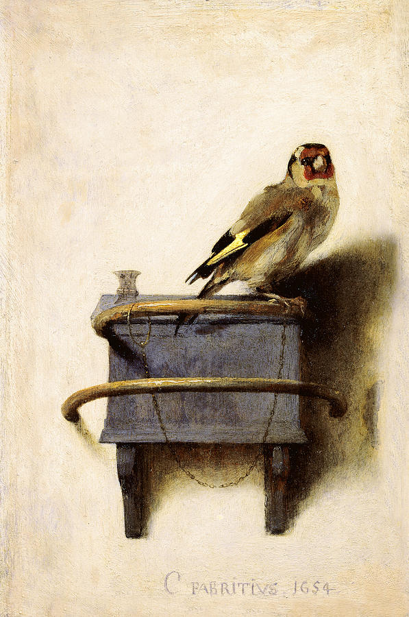 The Goldfinch Painting - The Goldfinch by Carel Fabritius