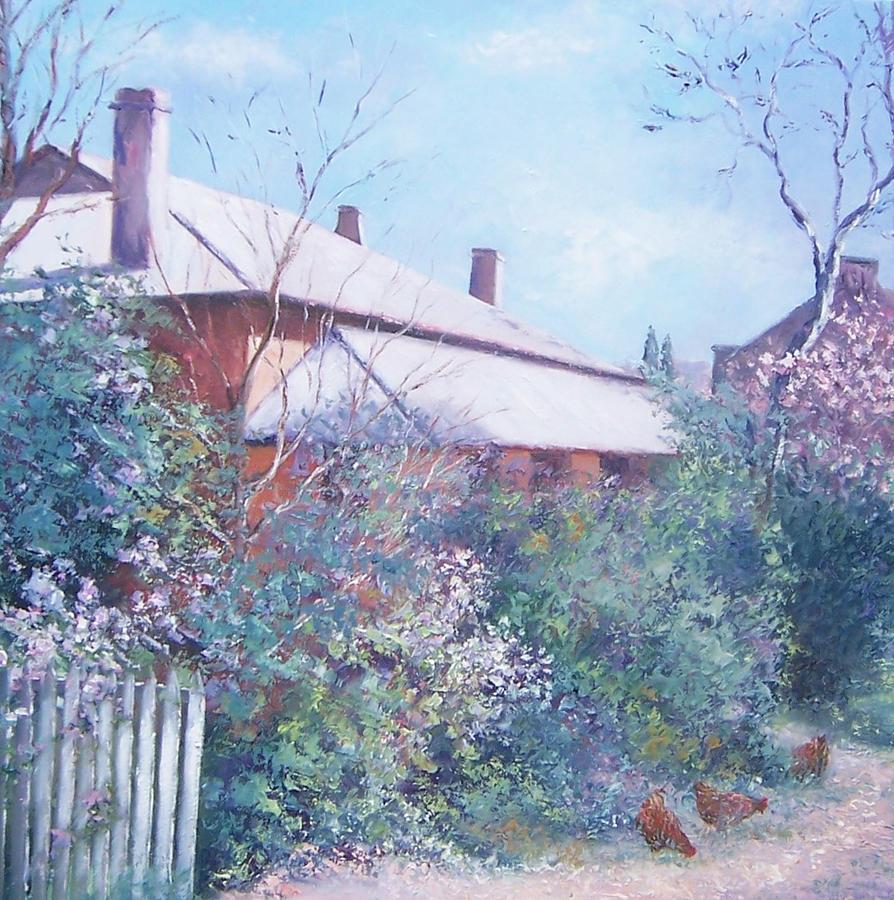 Farmhouse Painting - The Old Farm House by Jan Matson