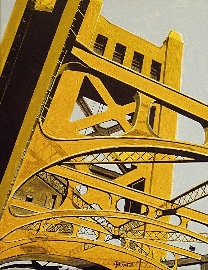 Sacramento Painting - Tower Bridge by Paul Guyer