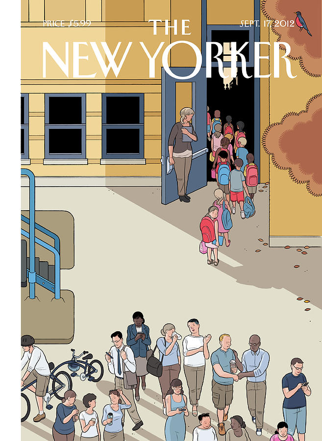 New Yorker September 17th, 2012 Painting by Chris Ware