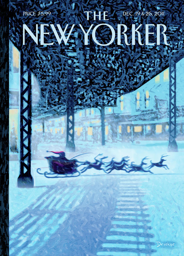 New Yorker December 19th, 2011 Painting by Eric Drooker
