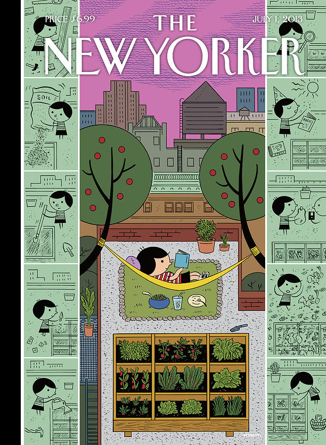 New Yorker July 1st, 2013 Painting by Ivan Brunetti