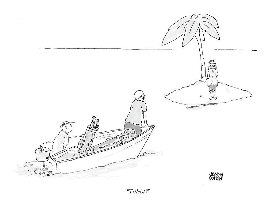 Titleist? Drawing by Jonny Cohen