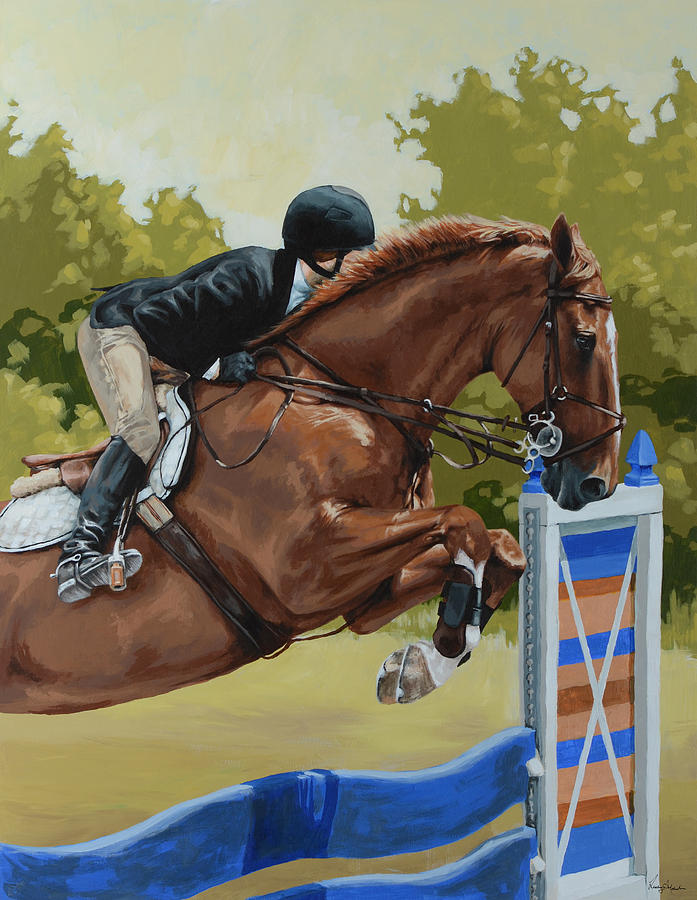 Horse Painting - Untitled  4 by Lesley Alexander