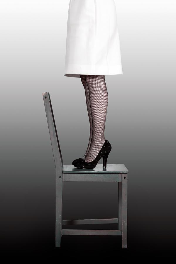 Woman Photograph - Woman On Chair by Joana Kruse