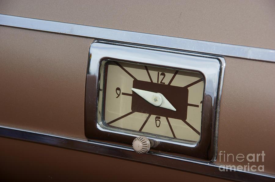 40 Ford Dash Clock Photograph By David Pettit