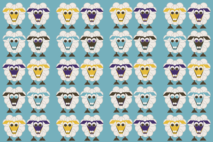 40 Sleep Sheep Digital Art - 40 Sleep Sheep by Asbjorn Lonvig