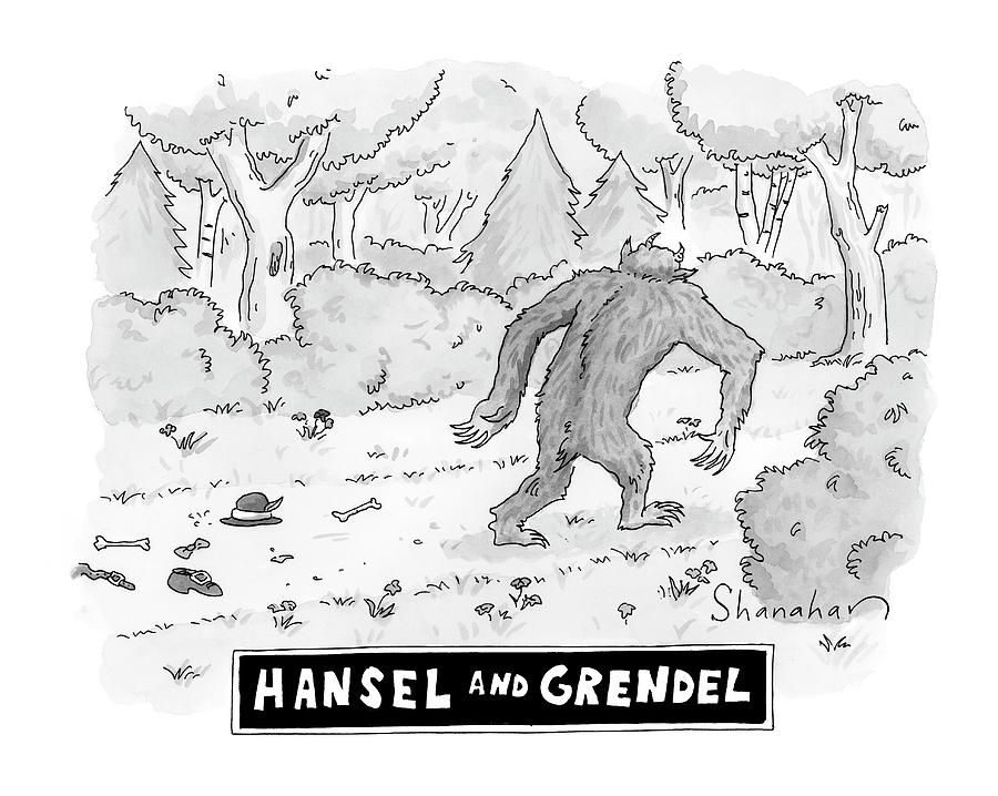 20f444a0e Hansel And Grendel Drawing by Danny Shanahan