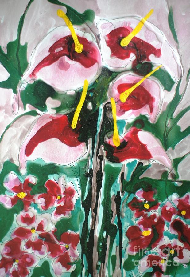 Created A World Recordwww.baljit-chadha.artistwebsites.com Http://www.youtube.com/edit?ns=1&video_id=fctt1b51fjahttp://www.1wra.org/index.php/worldrecord/detail/id/1241                            Zen Moksha Flowers• Each Work Tells A Story – Of Travels And Travails Painting - Zenmoksha Flowers by Baljit Chadha