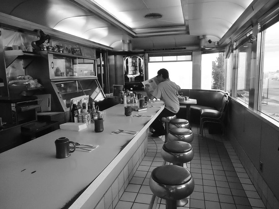 Diner photograph 40s diner black and white by david thrush