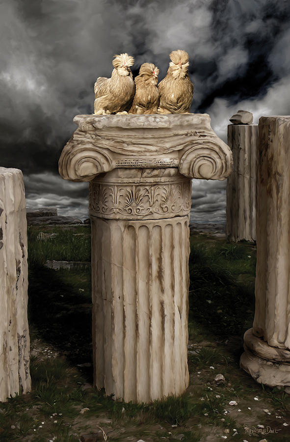 Chicken Digital Art - 42. Akropolis Burmahs by Sigrid Van Dort
