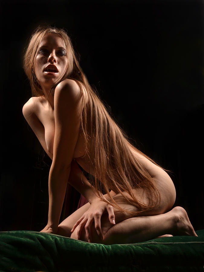 long hair Nude