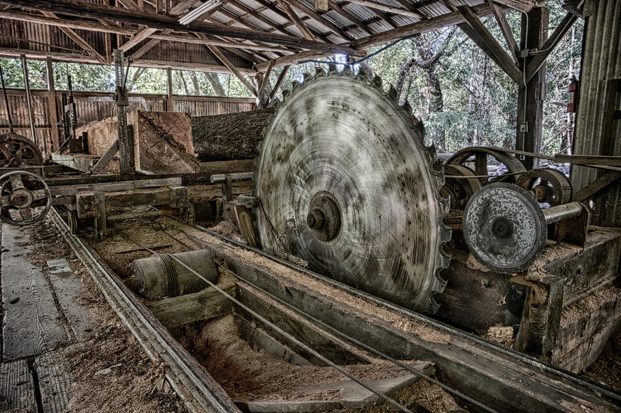 Vintage Photograph - Inside The Mill by Betty Depee