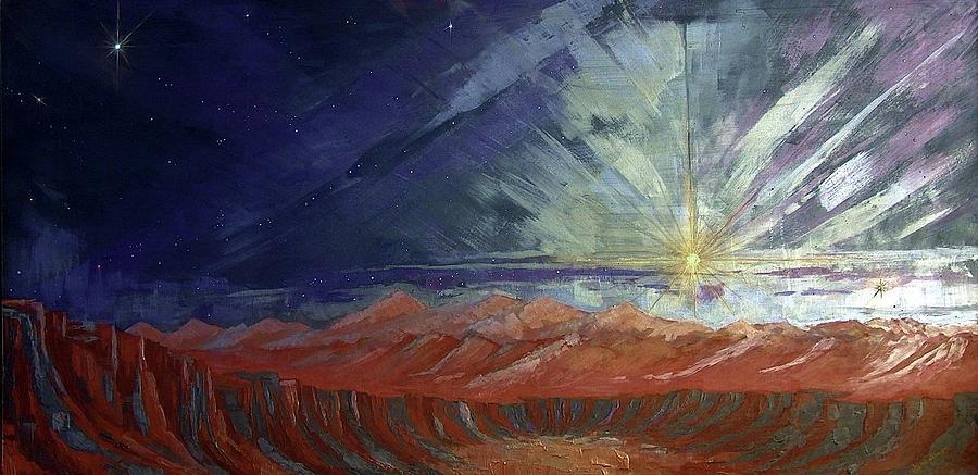 Cosmic Light Series Painting - Cosmic Light Series by Len Sodenkamp