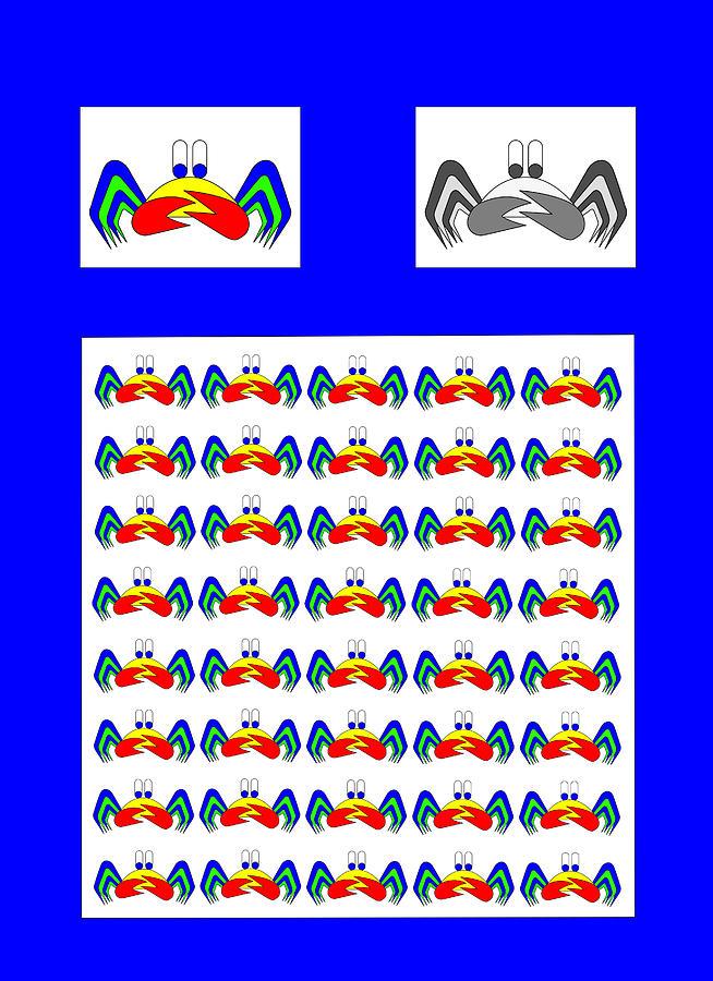 42 Crab Mac Claws Digital Art by Asbjorn Lonvig