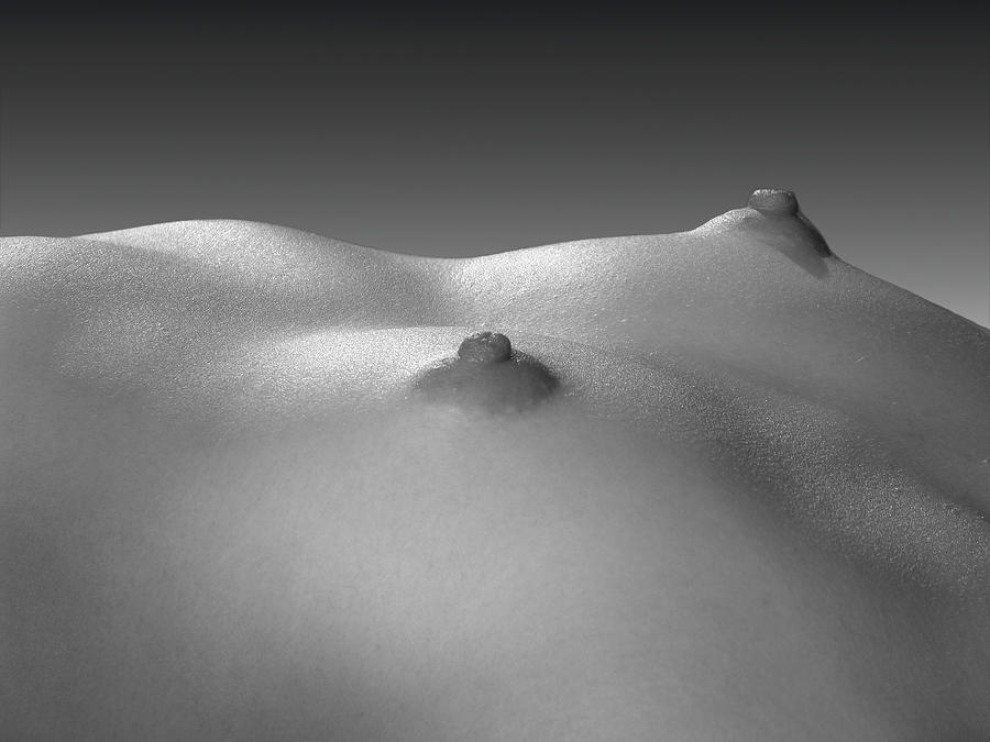 4269 black white nude small breasts large nipples photograph