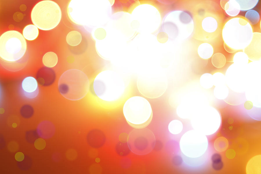 Orange Photograph - Abstract Background by Les Cunliffe